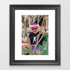 Nu goth 1 Color Framed Art Print