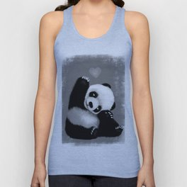Panda Love (Monochrome) Unisex Tank Top
