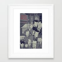 psycho Framed Art Prints featuring Psycho by Ale Giorgini