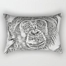 Chimpanzee 20161101 by JAMFoto Rectangular Pillow