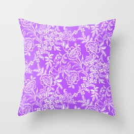 Radiant Orchid Tea Throw Pillow