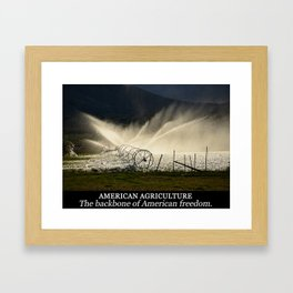 American agriculture Framed Art Print
