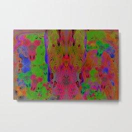 Sugar Skull and Girly Corks (Ultraviolet, Psychedelic) Metal Print