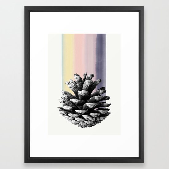 pinecone nature II Framed Art Print by elbuenlimon | Society6