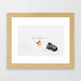 Fish bulb Framed Art Print
