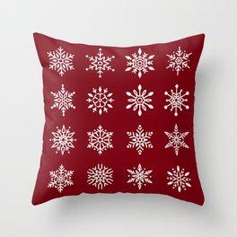 Winter Snowflakes Throw Pillow