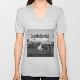 Ready to Dance on the Boardwalk of Coney Island House Music Unisex V-Neck