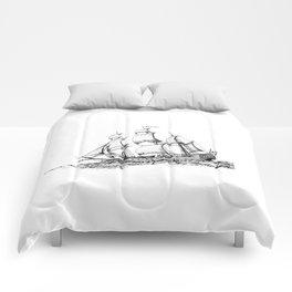 sailing ship . Home decor Graphicdesign Comforters