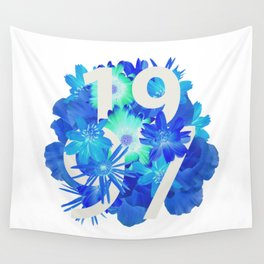 Blue Flower 1997 Wall Tapestry