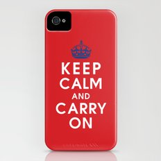 Keep Calm and Carry On iPhone (4, 4s) Slim Case