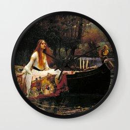 The Lady of Shalott - John William Waterhouse Wall Clock