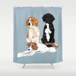 Elvis, Judd and Glory Bea Shower Curtain