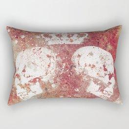 Blood Queendom (spray paint graffiti art, crown with skulls) Rectangular Pillow