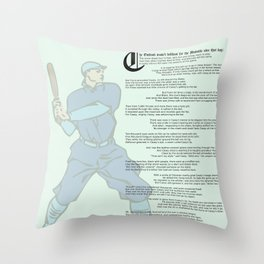 Casey at the Bat Throw Pillow