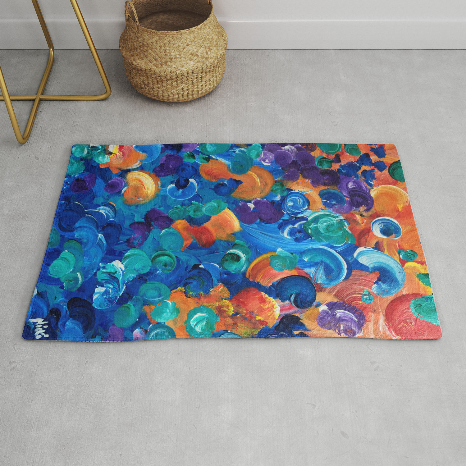Moon Snails Back To School Rug By