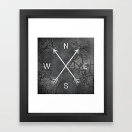 Compass (Map) Framed Art Print
