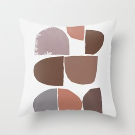 minimalist collage 06 Throw Pillow
