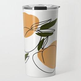 The peaches - Modern abstract art illustration Travel Mug