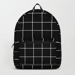 12 Grid Black White Minimal Modern Boho Backpack