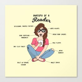 Anatomy of a Reader Canvas Print