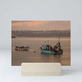Just a couple of fishing boats Mini Art Print