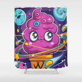 Sugar High: Cosmic Swirl Shower Curtain