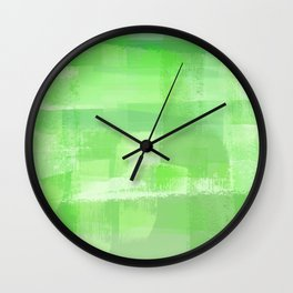 Eat Your Greens, Painted Plaid I Wall Clock