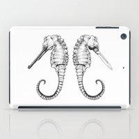 sea horse iPad Cases featuring Sea horse by Ilya kutoboy