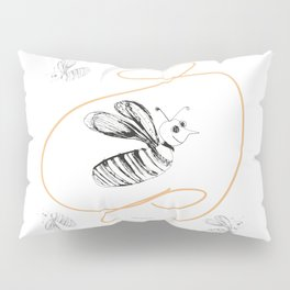 Crazy Bee drawing illustration for kds Pillow Sham