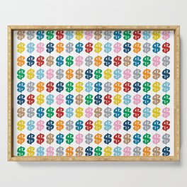 Colourful Money Repeat Serving Tray
