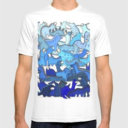 Blue Dinosaur Gradient T-shirt