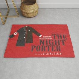 The Night Porter, movie poster, Liliana Cavani, Charlotte Rampling, Dirk Bogarde Rug