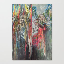fire and flood Canvas Print
