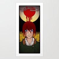 shingeki no kyojin Art Prints featuring Shingeki no Kyojin - Armin card by kamikaze43v3r