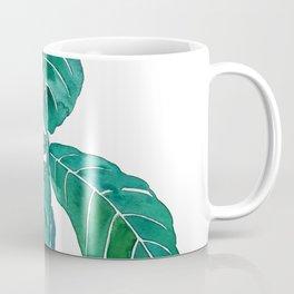 fiddle leaf fig watercolor Coffee Mug