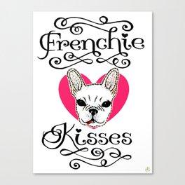 Frenchie Kisses Canvas Print