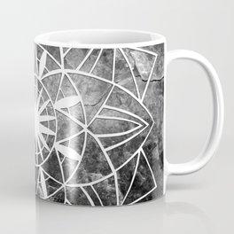 Star Mandala on Enigmatic Black Marble #1 #decor #art #society6 Coffee Mug