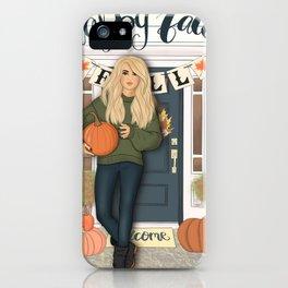 Happy Fall Scene iPhone Case