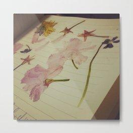 Flattened Flowers Metal Print