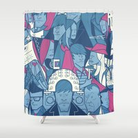 ale giorgini Shower Curtains featuring Eternal Sunshine of the Spotless Mind by Ale Giorgini