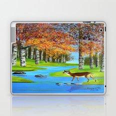Birch trees in the fall  Laptop & iPad Skin