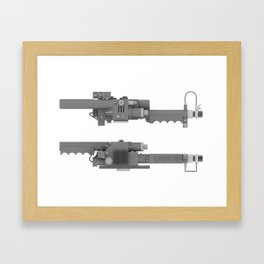 Ghostbusters Positron Collider overview 2 Framed Art Print