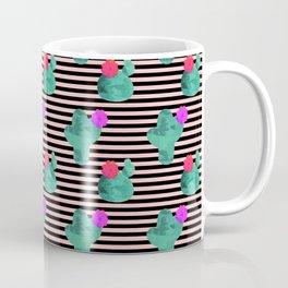 Cactus Stripes Peach Background Coffee Mug