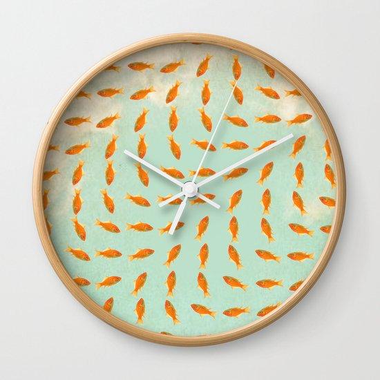 Goldfish Pattern Wall Clock