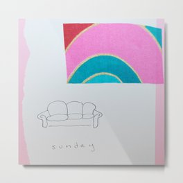 Sunday couch time Metal Print