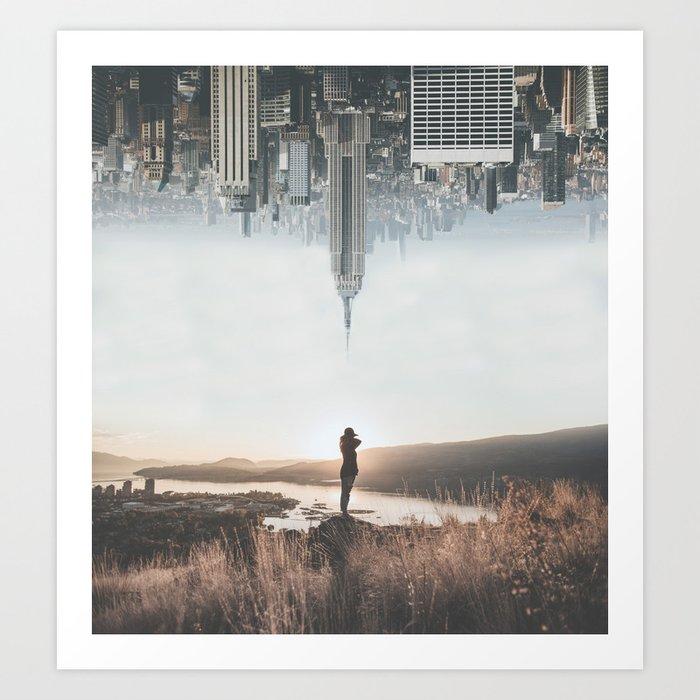 Between Earth & City Art Print