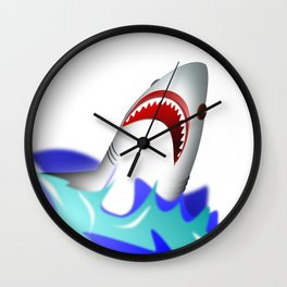 Shark attack wave danger dangerous Wall Clock