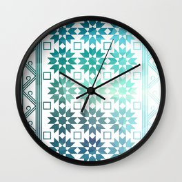 Pre-Columbian-Islamic Fusion Wall Clock