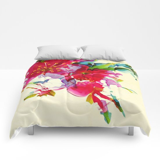 exploded floral Comforters