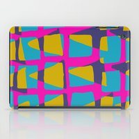 80s iPad Cases featuring 80s triangles and checks by Sarah Bagshaw